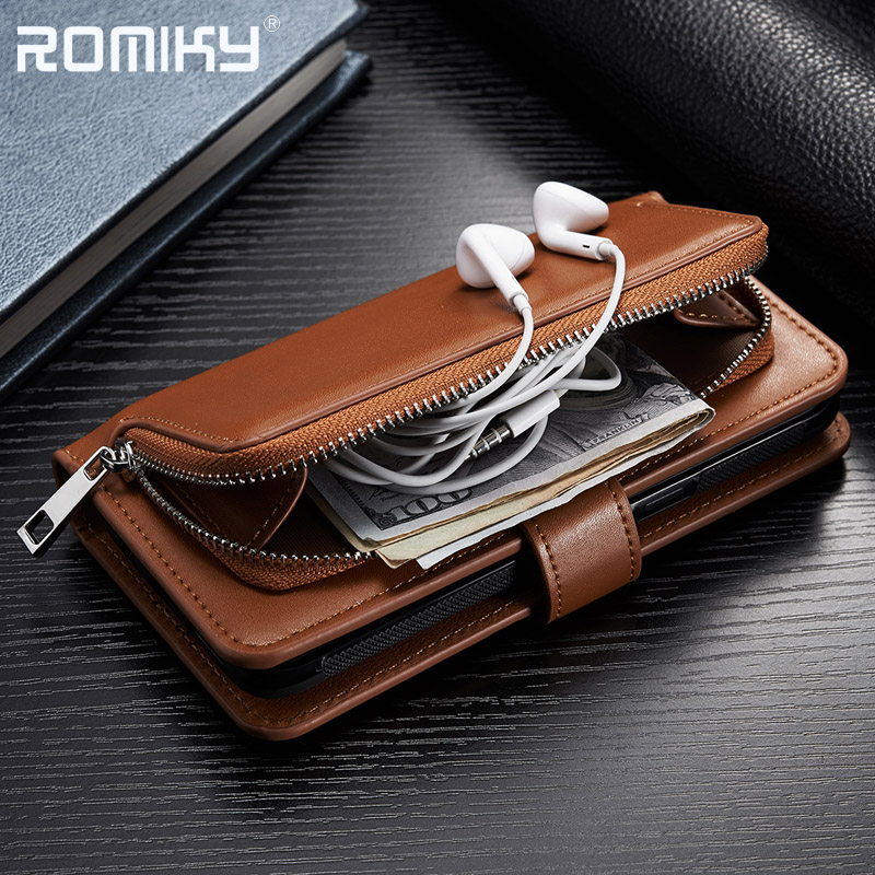 Romiky PU Leather Card Slot Holster For iPhone X 8 7 6 6