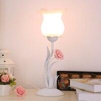 Korean garden rose desk lamps princess room creative children's room warm night light wedding bedside table lamps Z114642