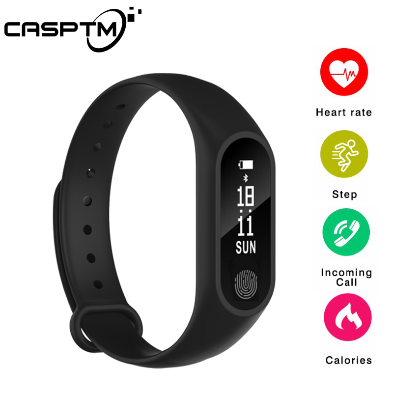Smart Armband M2 Wasserdicht Armband Herz Rate Monitor Fitness Tracker Bluetooth Smart Band für Android iOS Telefon Smartband
