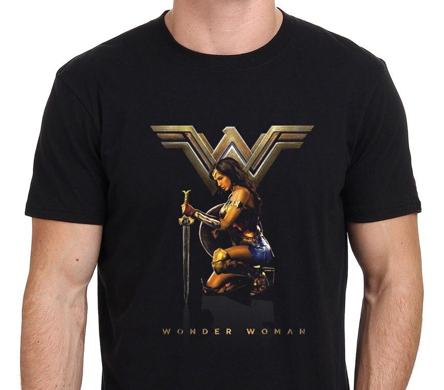 Новый Чудо-Женщина гадот фильм футболка Размеры: s-M-L-XL-XXL короткий рукав Для мужчин футболка Топы корректирующие Лето рукава футболка Homme