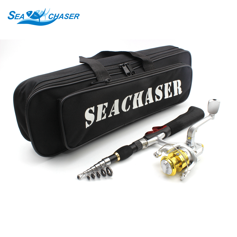 Fishing Tackle Rod 8BB Reel and Fishing bag Portable Foldable Casting Rods Spinning Fish ...