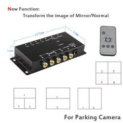 Koorinwoo Control Box Vier Kanäle Zur Verfügung für Rückfahrkamera Video Automatische Schalter Anschluss Vorderseite Hinten Kameras