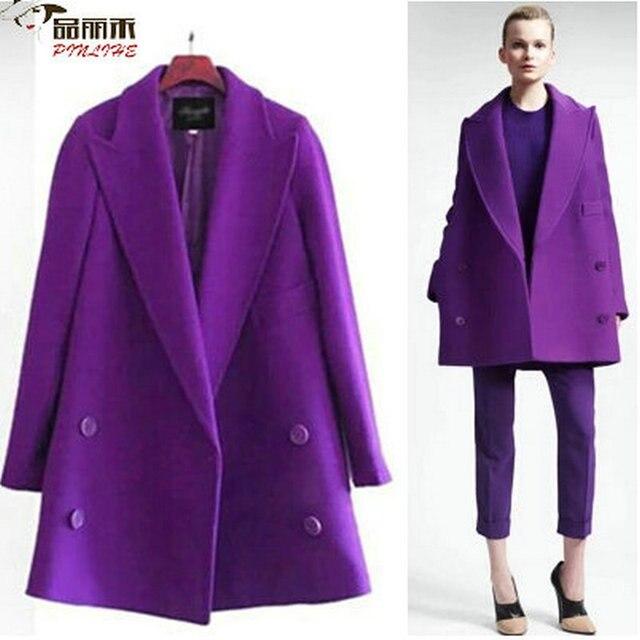 Womens Coats Overcoat Poncho Winter Coat Women Cotton Purple