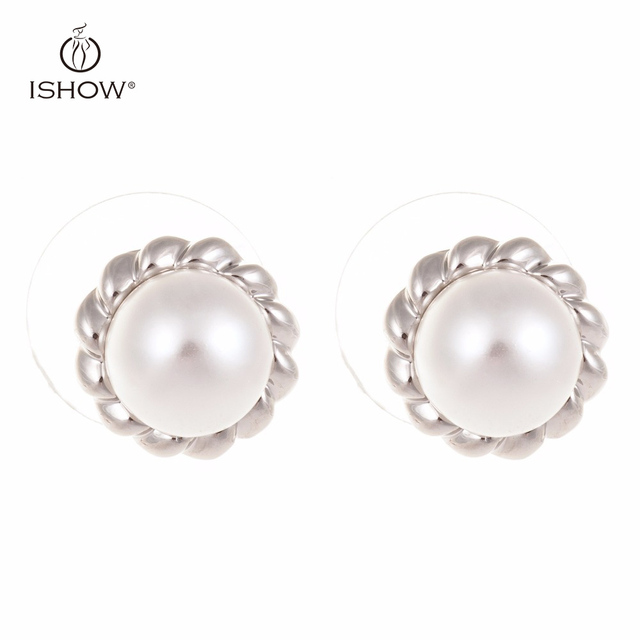 Pearl Stud Earrings For Woman White Wedding Fashion Jewelry Lover Gifts Valentine S