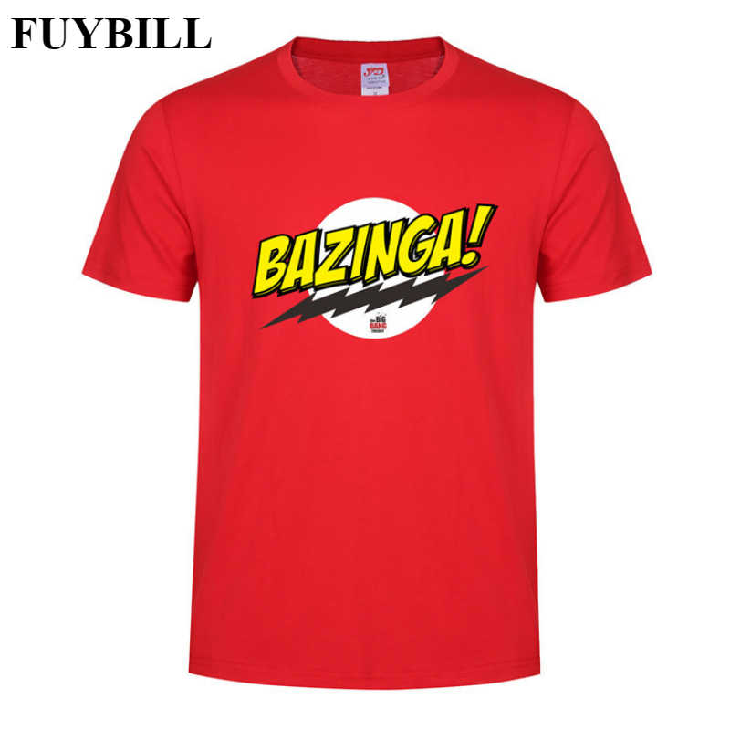 FUYBILL Fashion New Style Bazinga Men's T Shirt Summer Short Sleeve The Big Bang Theory T-shirt Cotton Sheldon Men T-shirt Tops