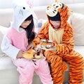 Muchachas de los bebés de navidad tigger cat niños pijamas conjuntos niño del pijama de franela puntada animal pijamas onesies niños ropa