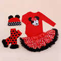Fashion Infant Newborns Clothing Sets Cartoon Mickey Baby Girls Bodysuit Dot Tutu Skirts Party Toddle Girl Christening Clothes