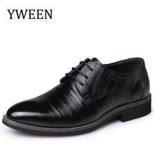 YWEEN Мода Высокое Качество Кожи Мужской Обуви, зашнуровать Бизнес мужская Обувь, Мужчины Платье Обувь, Весна Oxfords обувь