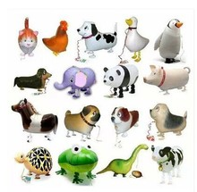 20pc/lot happy birthday gift walking foil balloons as gift farm animal can hold farm party free shipping