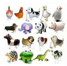 Ballons en feuille de marche, 20 pièces/lot, pour cadeau danniversaire, en animaux de ferme, livraison gratuite