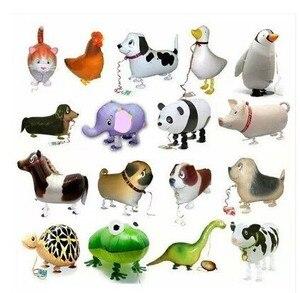 Image 1 - Ballons en feuille de marche, 20 pièces/lot, pour cadeau danniversaire, en animaux de ferme, livraison gratuite
