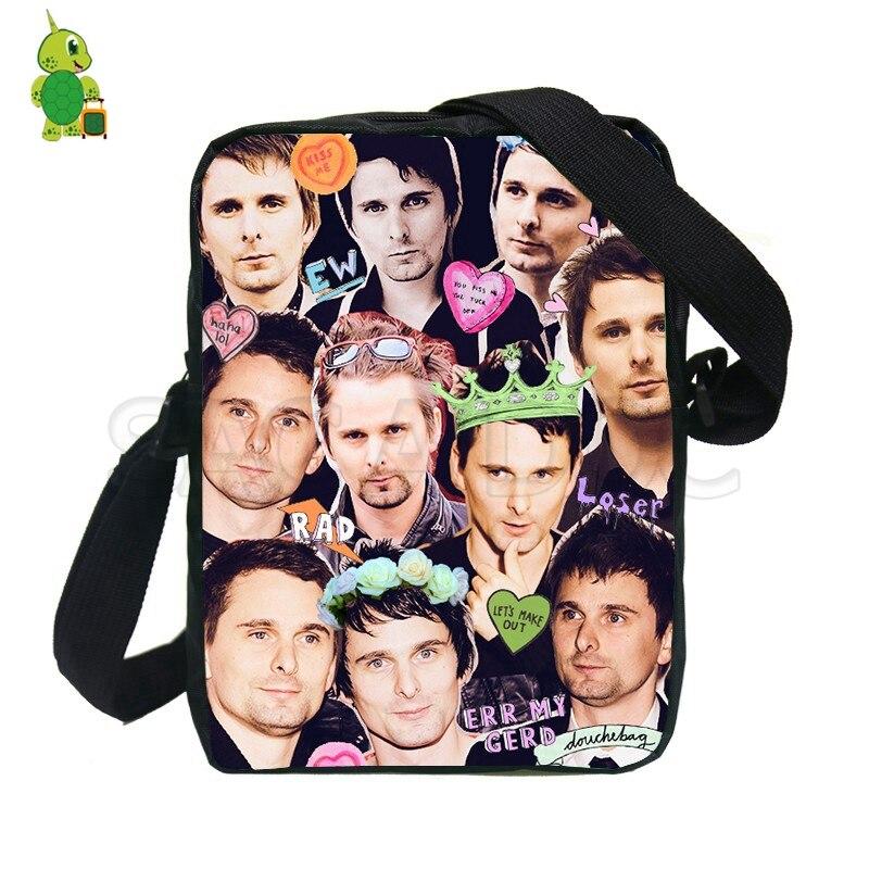 Rock Star Matthew Bellamy Money напечатаны сумки-мессенджеры для мальчиков и девочек мини сумки на плечо для женщин и мужчин Модная дорожная сумка,