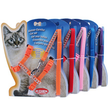 Lead-Leash-Set Pet-Cat-Harness Crystal Puppy-Dog Rhinestone Kitten Adjustable Pink Diamond
