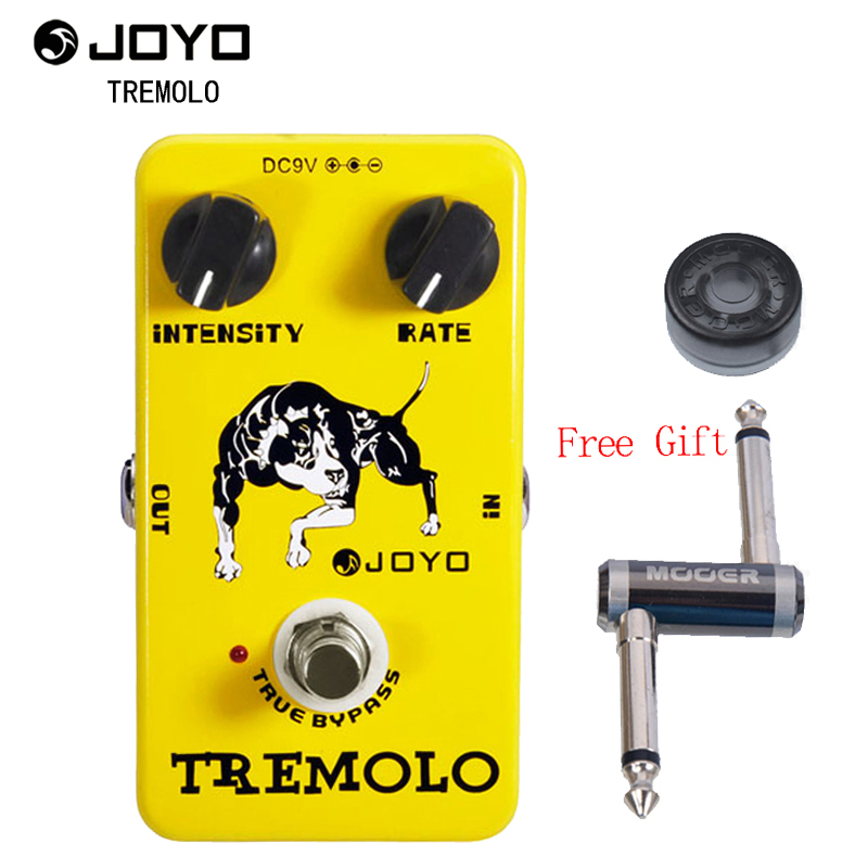 JOYO JF-09 Tremolo guitar effect pedal tremolo guitar stompbox with One MOOER PC-Z Pedal Connector and One Cover CapJOYO JF-09 Tremolo guitar effect pedal tremolo guitar stompbox with One MOOER PC-Z Pedal Connector and One Cover Cap