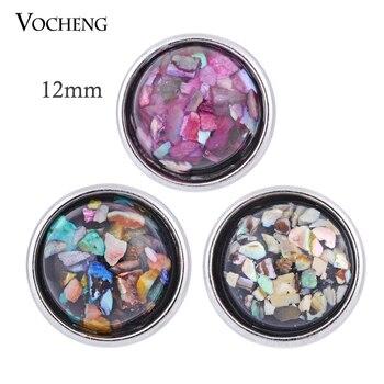 10 unids/lote Vocheng pequeño 12mm 7 colores intercambiables encantos de la joyería de Ginger Snap (Vn-511 * 10)