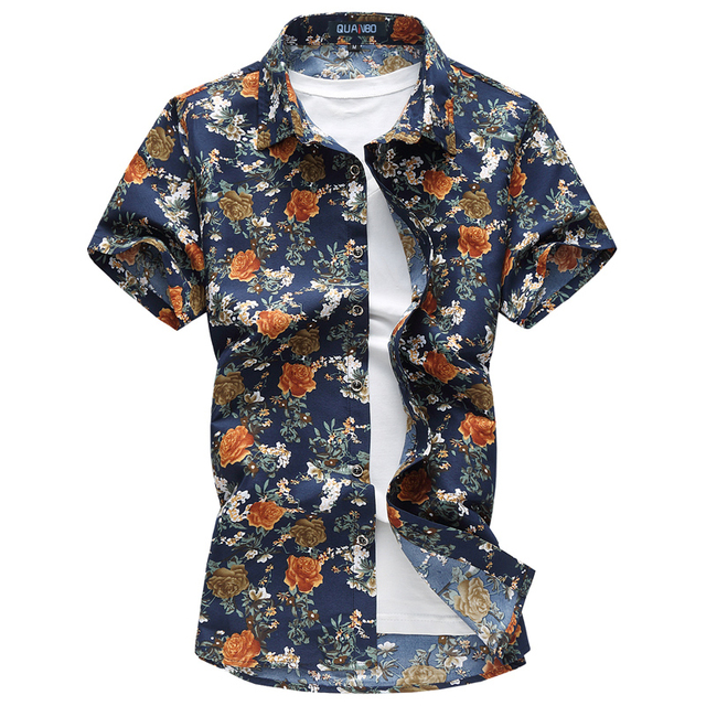Casual Short Sleeve Print Shirt Camisa 2