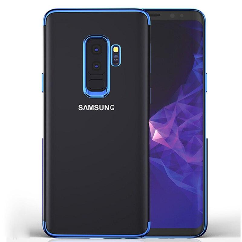 Покрытие чехол для Samsung S9 S9 плюс Чехол Мягкие силиконовые прозрачные ультра тонкий ТПУ чехол для Samsung S8 S8 плюс Примечание 8 S7