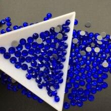 SS6-SS30 Glass Crystal Sapphire Hot Fix Rhinstones Clear Flatback Iron-on Strass For Wedding Dress