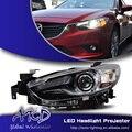 One-Stop Shopping Styling para Mazda 6 Faróis de LED Farol Novo Mazda6 DRL Lens Duplo Feixe H7 HID Xenon Acessórios do carro