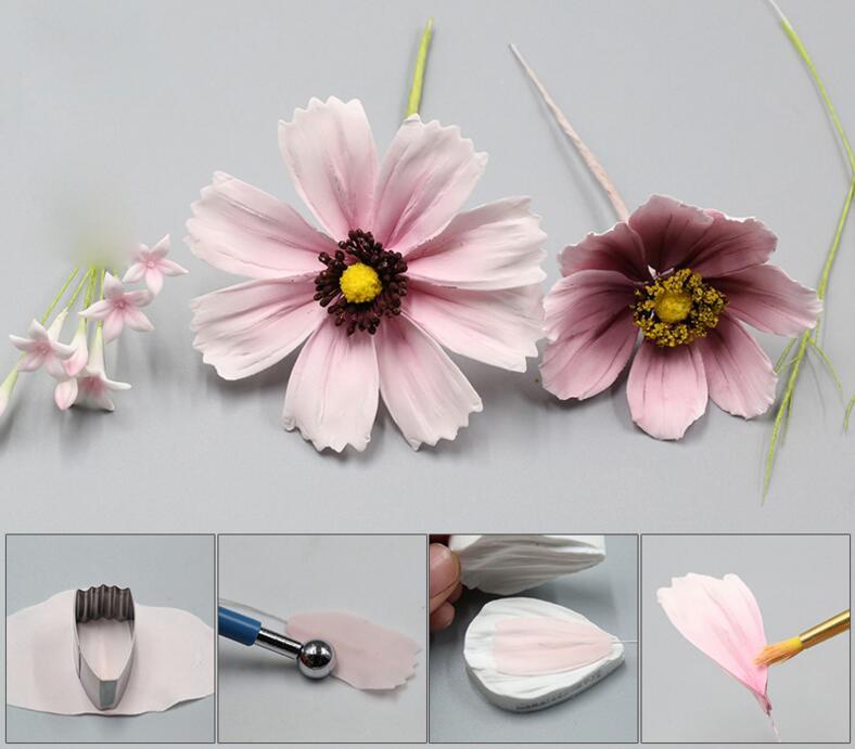 Daisy lule Petal Silicone Veiner & Cutter Petal Flower Cutter Fondant - Kuzhinë, ngrënie dhe bar - Foto 5