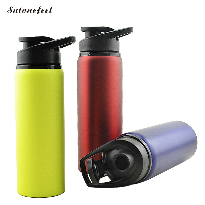 700ML Water Bottle Leak Proof Travel Mugs My Sport Drink Bottle Stainless Steel Outdoor Drinkware