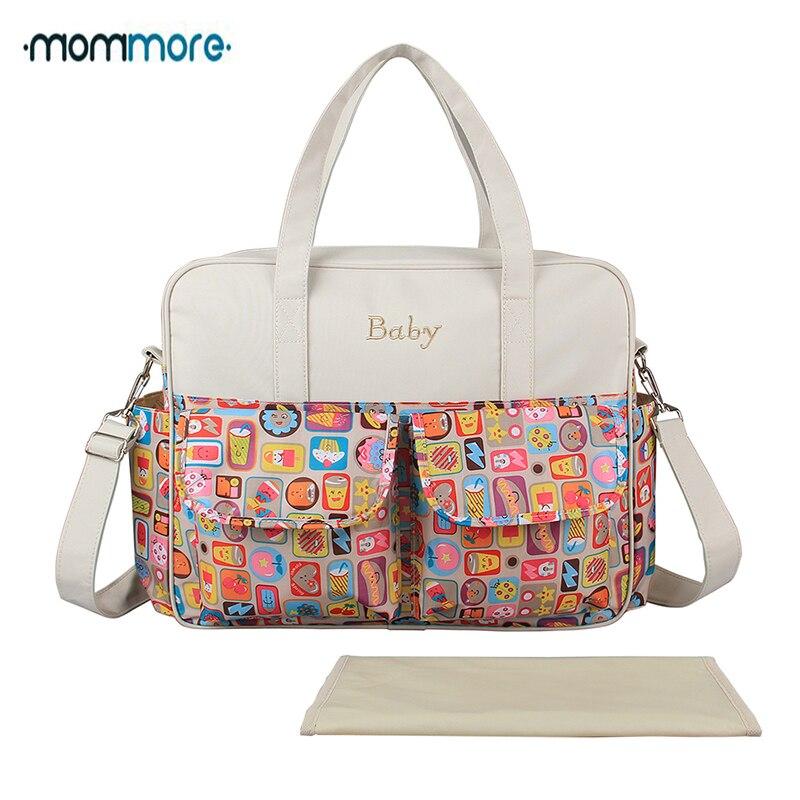 mommore 인쇄 기저귀 가방 아기 기저귀 가방 변경 패드 - 기저귀 및 화장실 훈련