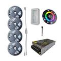 SMD RGB LED Strip light 5050 60leds/m SMD 5m 10M 15M 20M waterproof flexible led tape diode  RF controller DC 12V  power supply