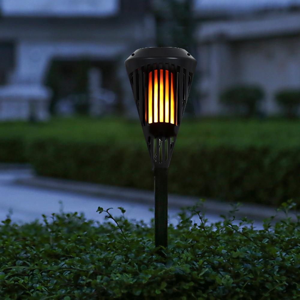 Led Landscape Lights Flickering: 96pcs SMD2835 LED Waterproof Solar Flickering Flame Torch