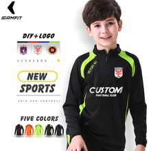 Купить с кэшбэком Winter Youth Sporswear basketball Soccer Jogging Running Clothes Long Pants Warm Gym Fitness Jacket Coat Zipper Football Shirts