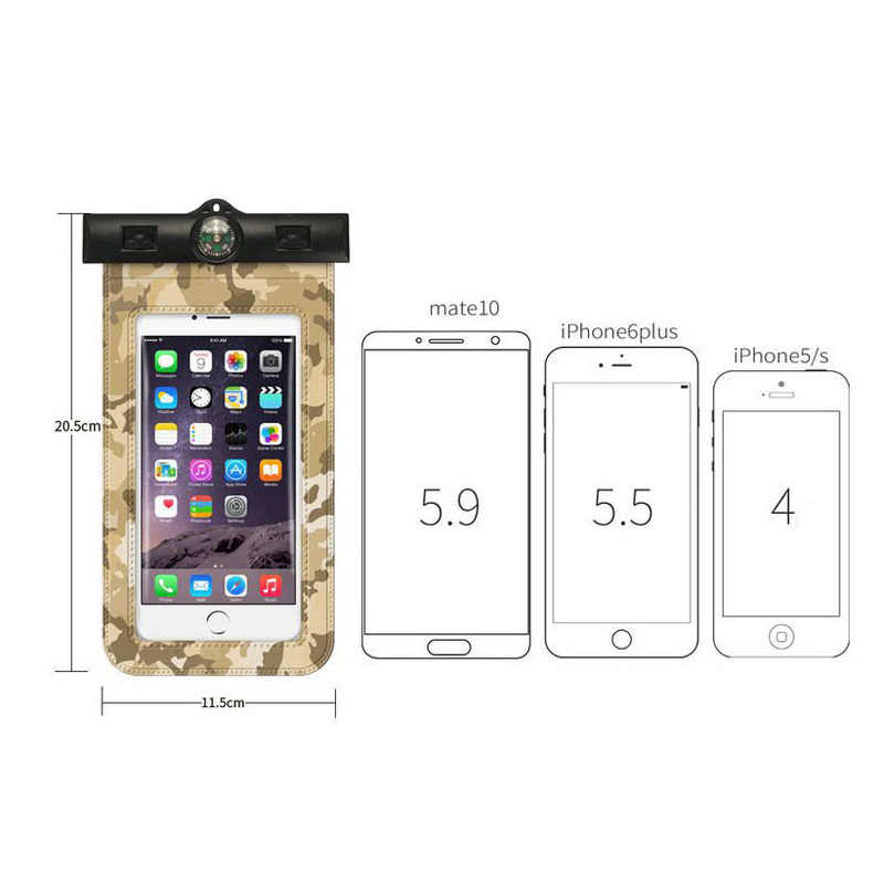 Funda de móvil de camuflaje impermeable para Iphone X/7/6/8 plus funda para huawei mate 10