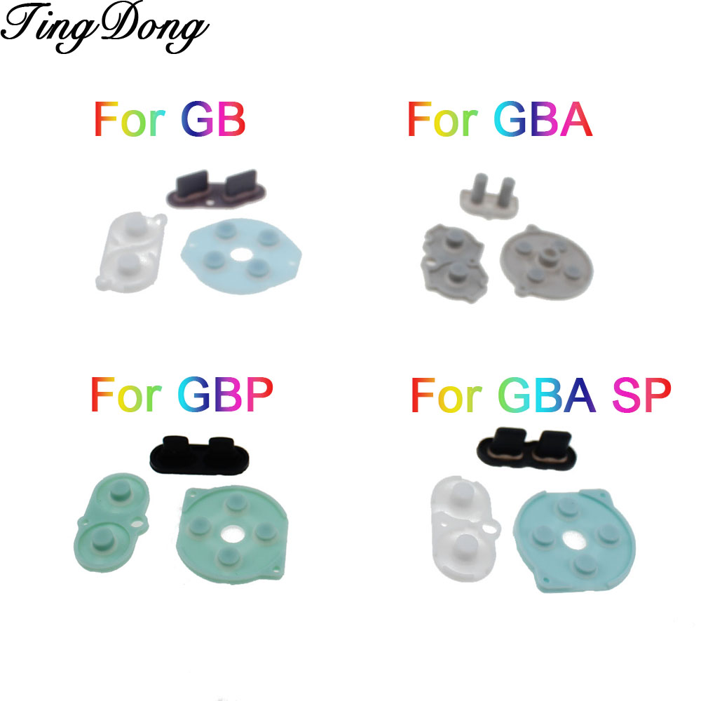 50SETS Conductive Rubber Silicone Pads Buttons For <font><b>Game</b></font> Boy Pocket GBP GBA GBC GB DMG Console A B Start D Pad Buttons For GBA SP image