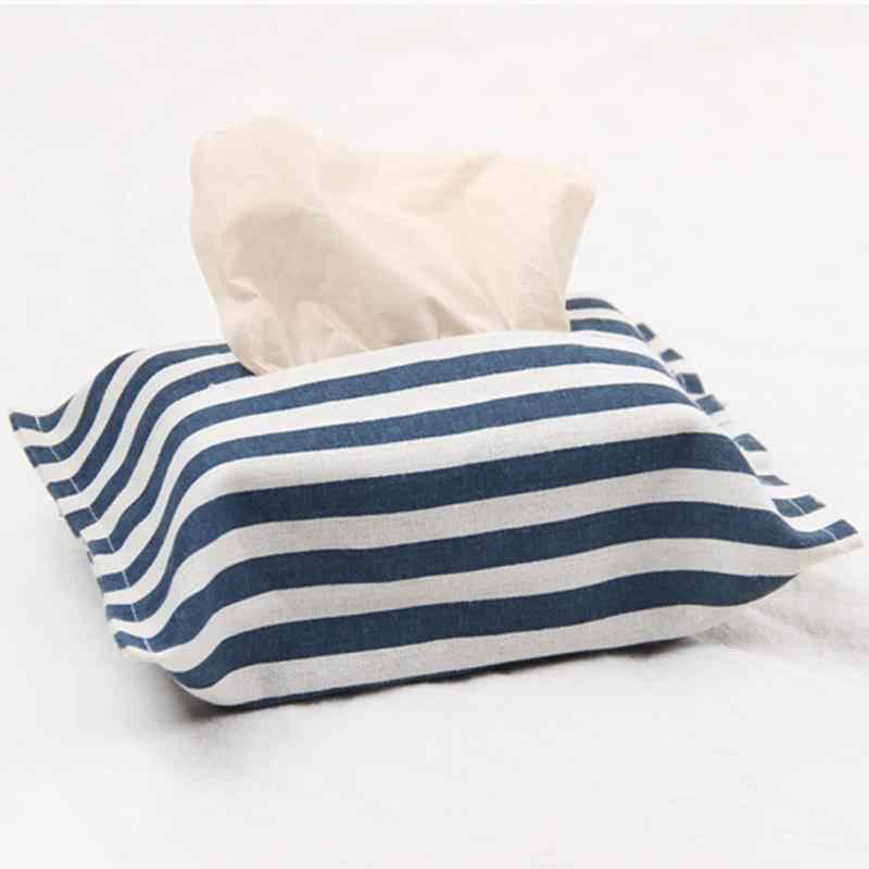 Recipiente de pano Caixa de Tecido de Linho Casa Cozinha Sala de estar Capa Bag Suporte Do Guardanapo de Papel Caixas de Tecido