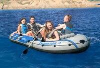5 человек надувная лодка дрейфует группы утолщенной резиновые лодки на воде каяк рыбацкая лодка оборудования