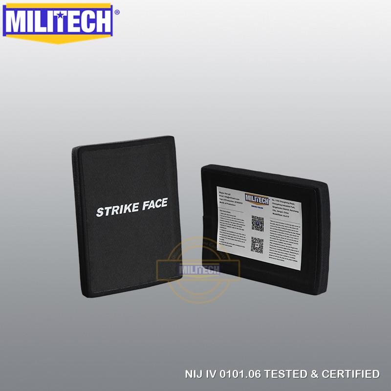 MILITECH 6'' X 8'' Two SIC & PE NIJ IV Bulletproof Side Panels Set 6 By 8 NIJ 4 Stand Alone Ballistic ESAPI NIJ Lvl 4 SAPI Plate