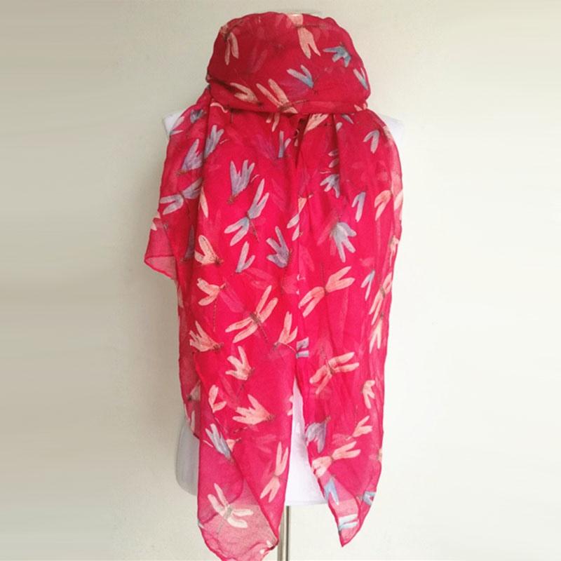 Nouveauté mode imprimé animal écharpe libellule dames foulards - Accessoires pour vêtements - Photo 4