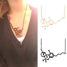 Molecular Pendant Necklace Physics Chemistry Structure Science Geometric Shaped Item Women Collier Jewelry