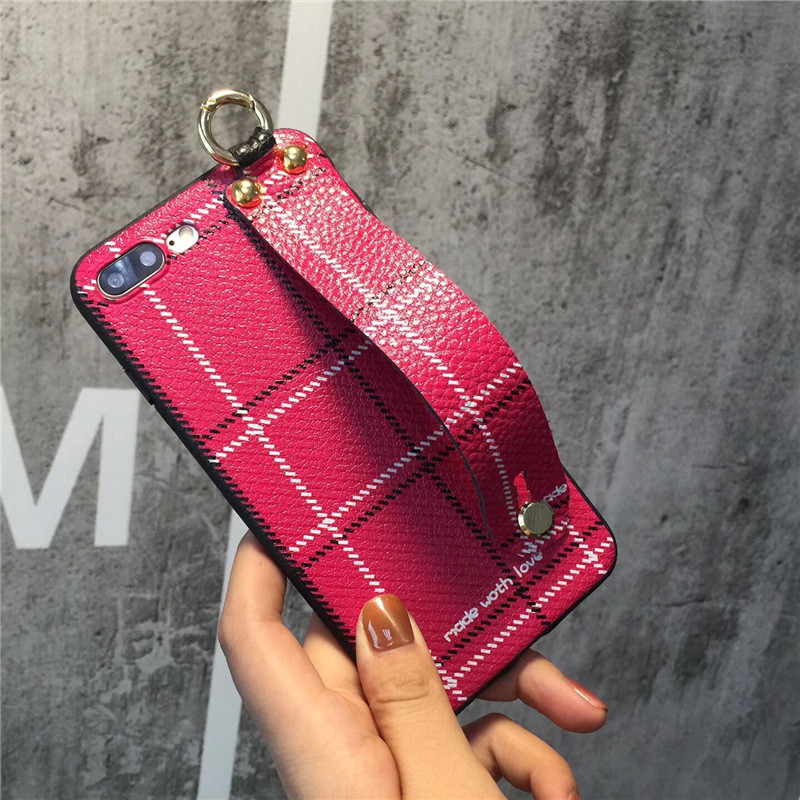 New Fashion 3D Hand Holder Soft PU Leather Mobile Phone Cases For iPhone8 8Plus 7 7Plus Protective Shell Coque Funda Back Covers