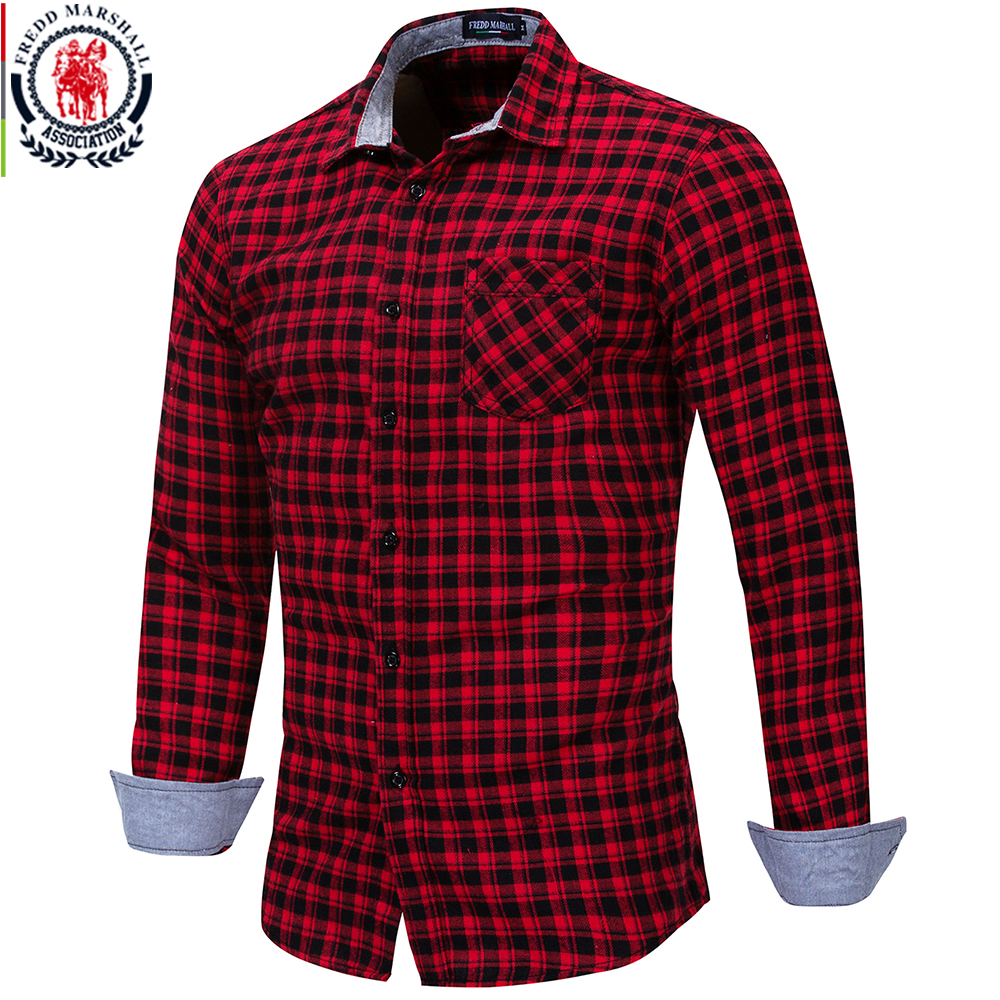 Men's Clothing Covrlge Men Plaid Shirt New Spring Autumn Black White Plaid Shirt Long Sleeve Chemise Homme Cotton Male Check Shirts Mcl217 Casual Shirts