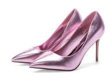 Sexy High Heels frauen pumps fashion Echtes Leder 9 cm und 7 cm Thin high heels klassische Pumps Partei Braut schuhe zapatos mujer