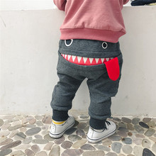 Get more info on the Baby Children Boys Girls Pants Kids Cartoon Shark Tongue Harem Pants Trousers Pants