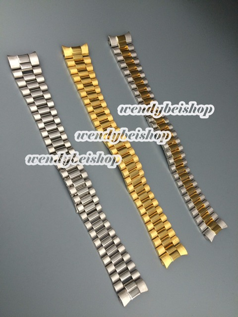 20 мм новый оптовая продажа высокое качество нержавеющая сталь ремешок ремешок загнутым концом развертывания застежка пряжка для ROLwatchbracelet