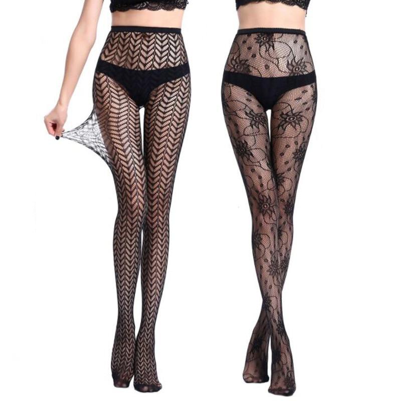 Star Pattern Tights Black Lace Pantyhose Fishnet Mesh Pantyhose For Women