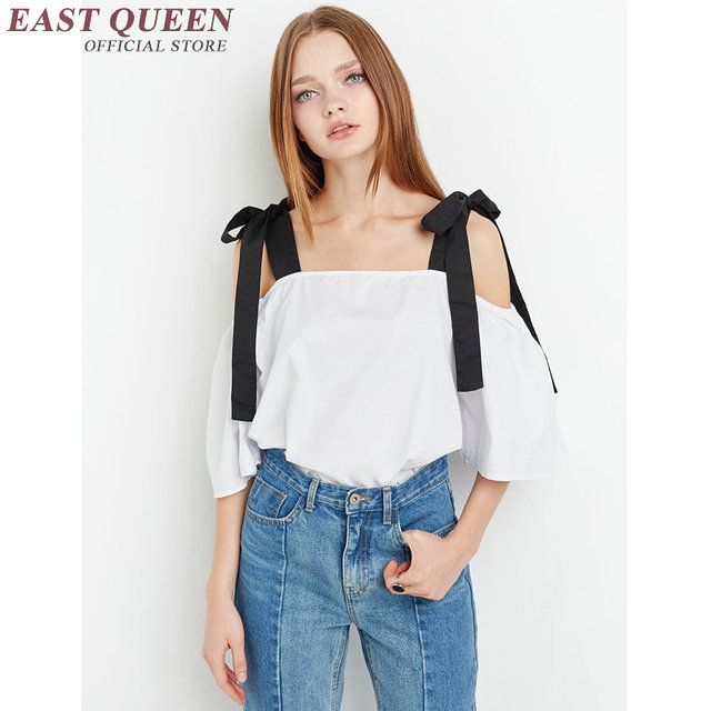 ed13406f87be6 Off shoulder top women cold shoulder tops white off the shoulder tops for  women summer beach women tops summer 2018 KK123