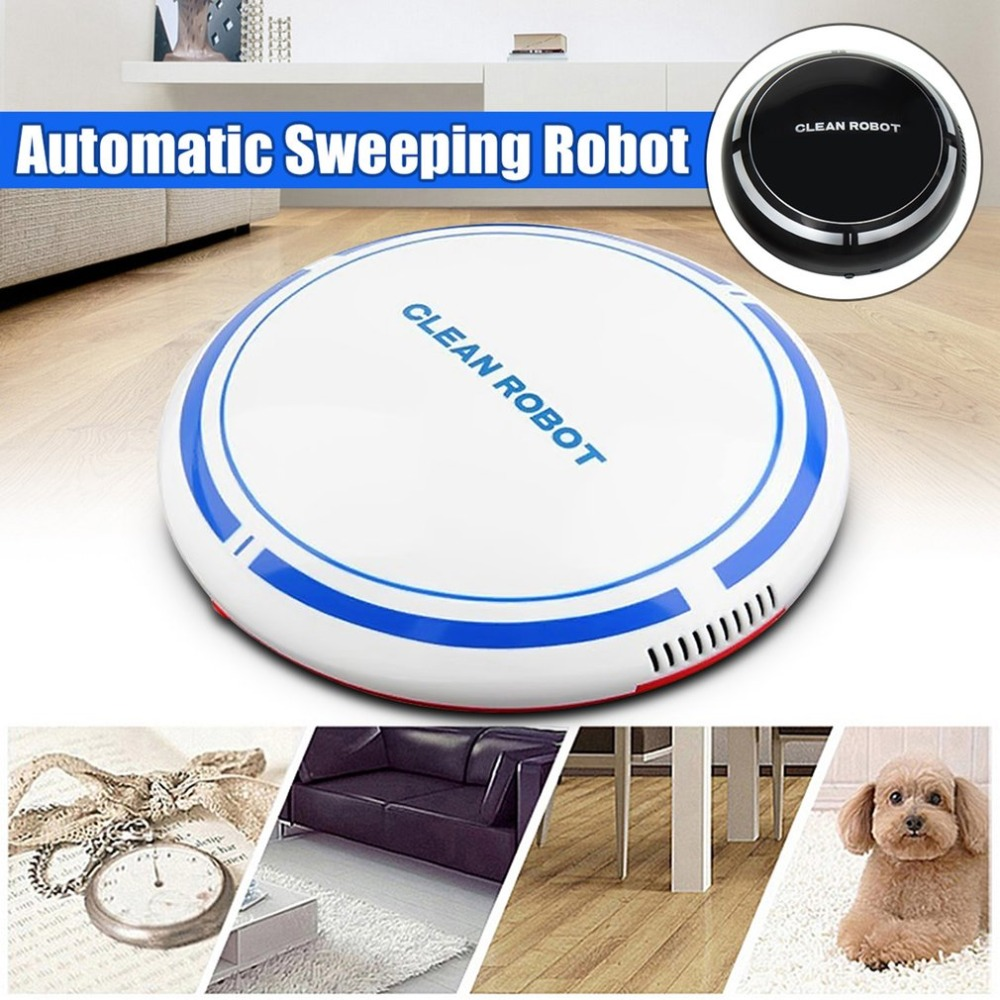 USB Rechargeable Smart Clean Robot Automatic Vacuum Floor Cleaner Sweeping Cleaner Household Low Noise Dust Collector