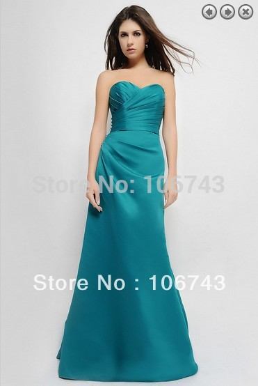 free shipping maxi dresses 2013 satin vestidos de festa bridal formal gown Fashion long dress party Gowns Bridesmaid Dresses