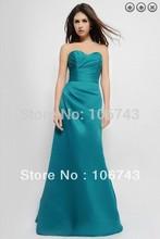 free shipping maxi dresses 2013 satin vestidos de festa bridal formal gown Fashion long dress party Gowns Bridesmaid Dresses