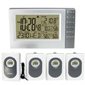 Estação Meteorológica Digital Sem Fio com Indoor Outdoor Termômetro Higrômetro Temperatura Sauna Digital Alarm Clock 4 Transmissores