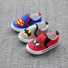 Marvel Heroes Super Brand Shoes Kids Boy Sneakers 2016 Sport Canvas Shoe For Infants Toddler Age 4-8 Years Old, Blue/Grey/Red