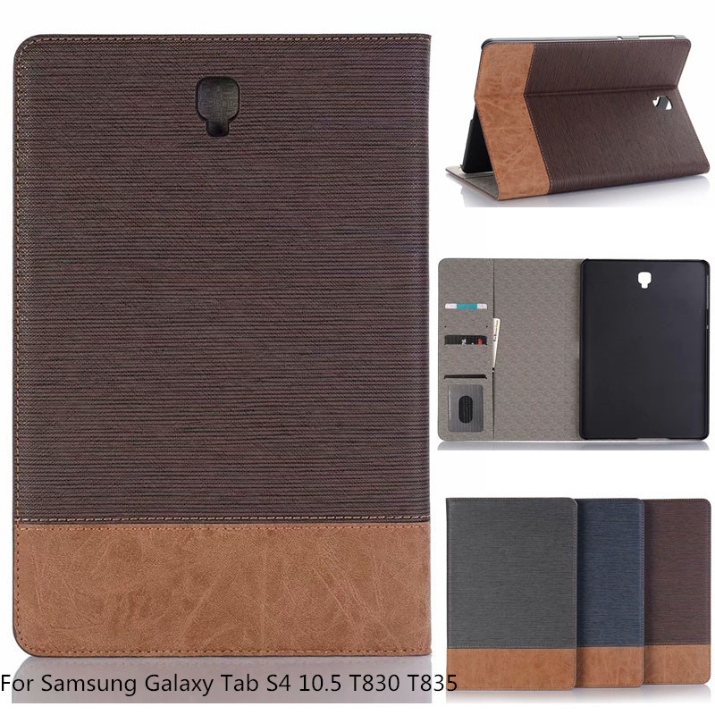 Business Style Case For Samsung Galaxy Tab S4 S 4 10.5 SM T830 T835 T837 Tablet Case Support Stand Pu Leather Cover Funda