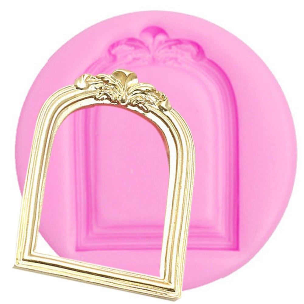 3D fina molde del silicón del marco foto forma pastel decoración ...